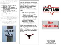 city sign regulations